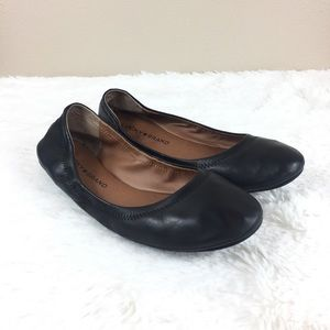 Lucky Brand Black Leather Emmie Ballet Flats 8